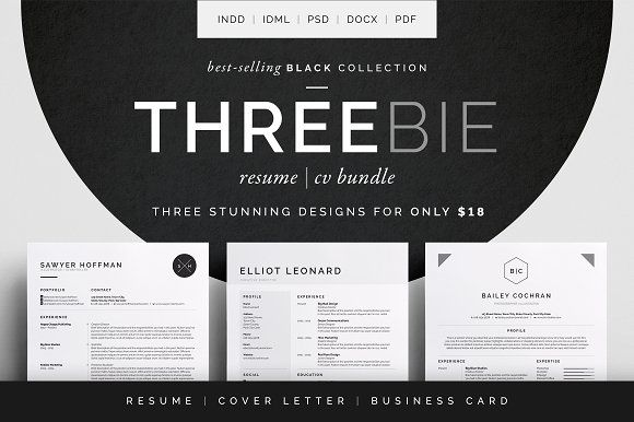 Resume\/CV - Cover letter - Free Business card template Threebie - business card resume