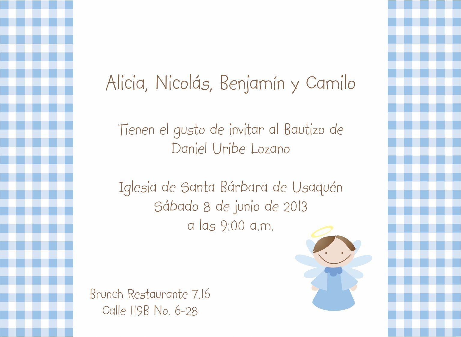 Tarjetas De Invitaciones De Bautismo Para Fondo De Pantalla