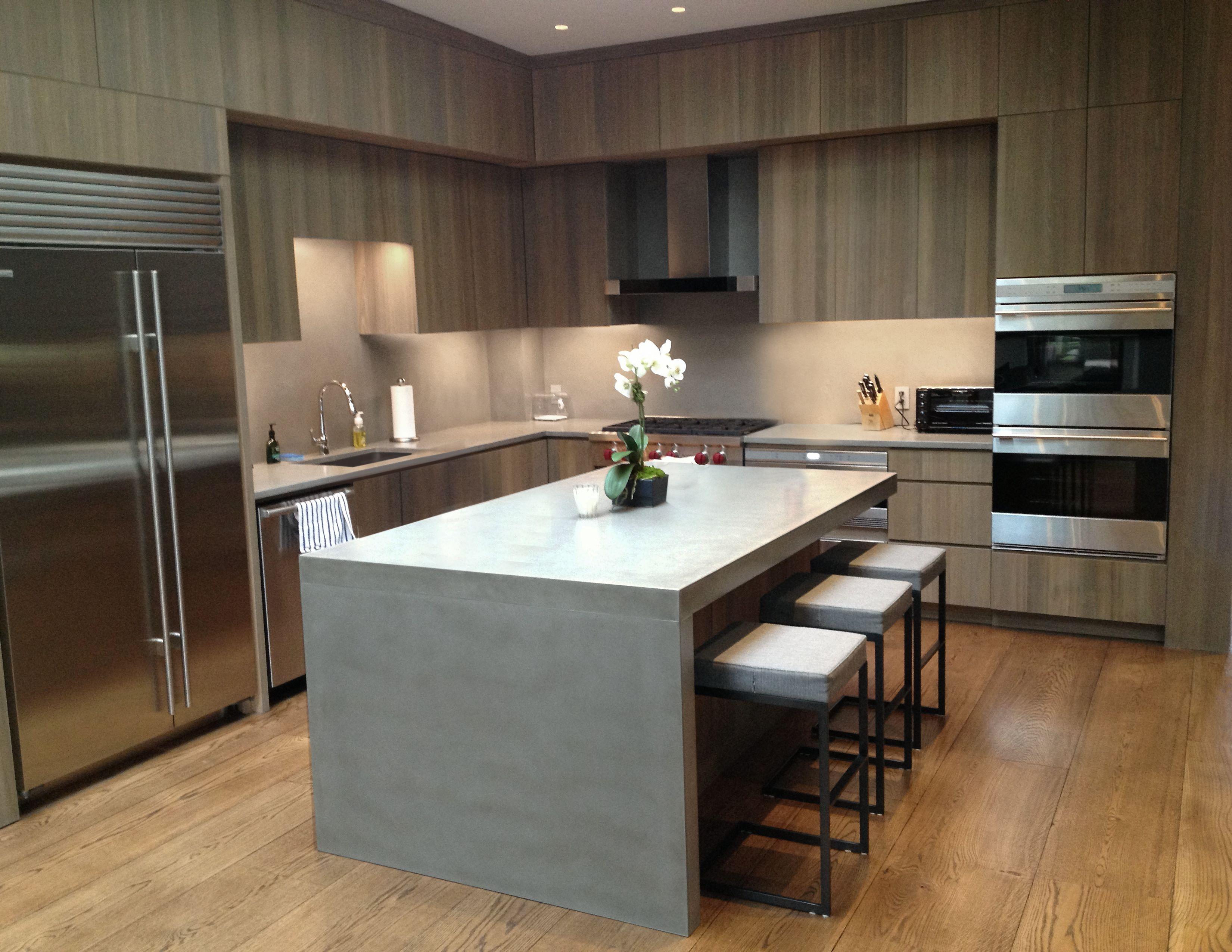 Concrete Kitchen Countertop Ideas Part - 42: Contemporary Concrete Kitchen Countertop By Trueform Concrete.