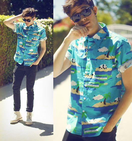Adam, 20 yrs old, CA. I'm digging that panda shirt, suits him well.