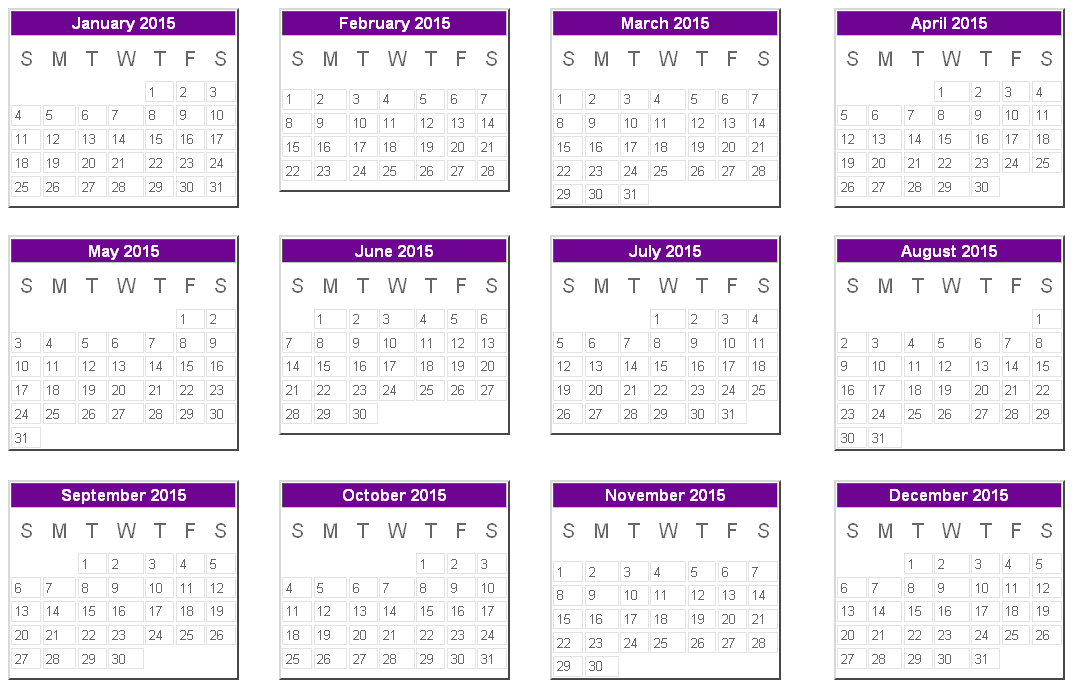 Calendars  Here Is A Printable Edition Of The Calendar Year
