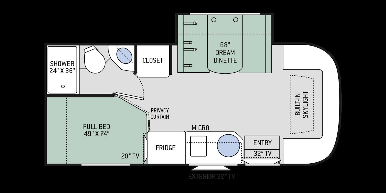 Gemini RUV Class C Motorhomes Floor Plans Thor Motor