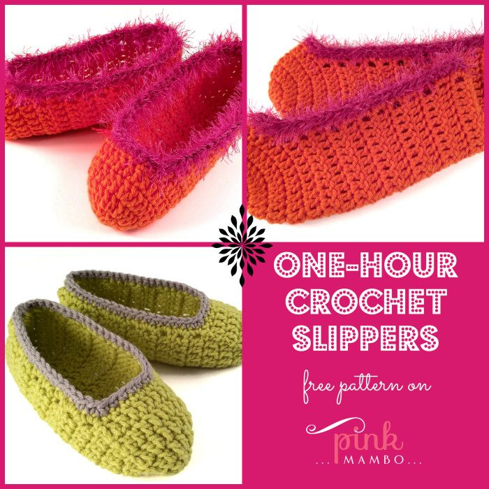 One-hour Crochet Slippers - FREE Pattern! | Hookin On Hump Day ...
