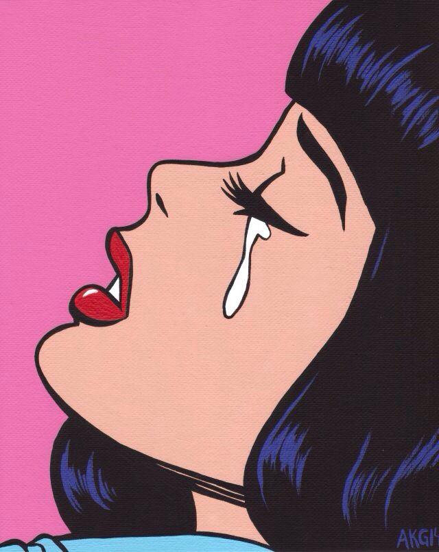 Pretty when I cry... Pop art   Random   Pinterest   Crying