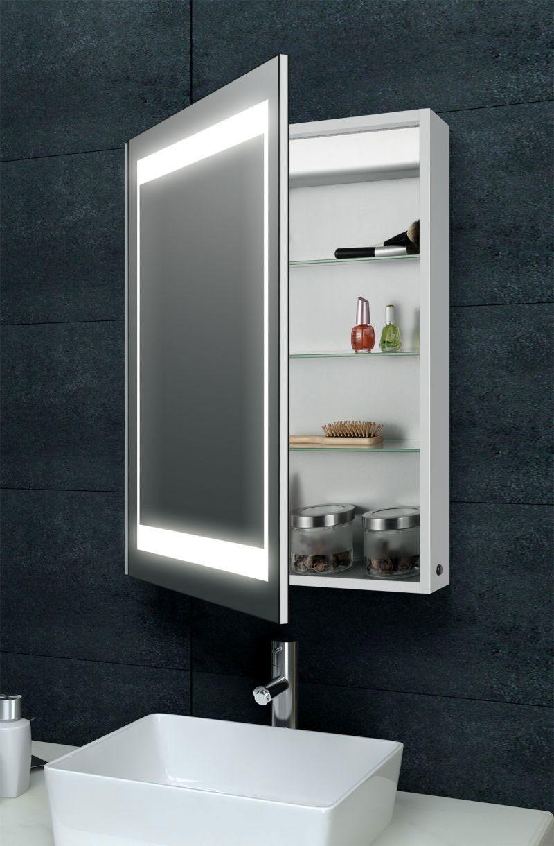 Laura Aluminium Backlit Mirrored Bathroom Cabinet Bathroom
