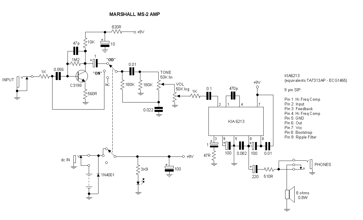 Schematic - Colorsound Overdriver - One of my favorite circuits ...