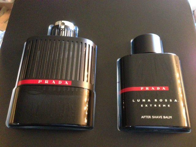 New Prada Luna Rossa Extreme Gift Set Eau Parfum Spray 100ml After Shave Balm Prada After Shave Balm After Shave The Balm