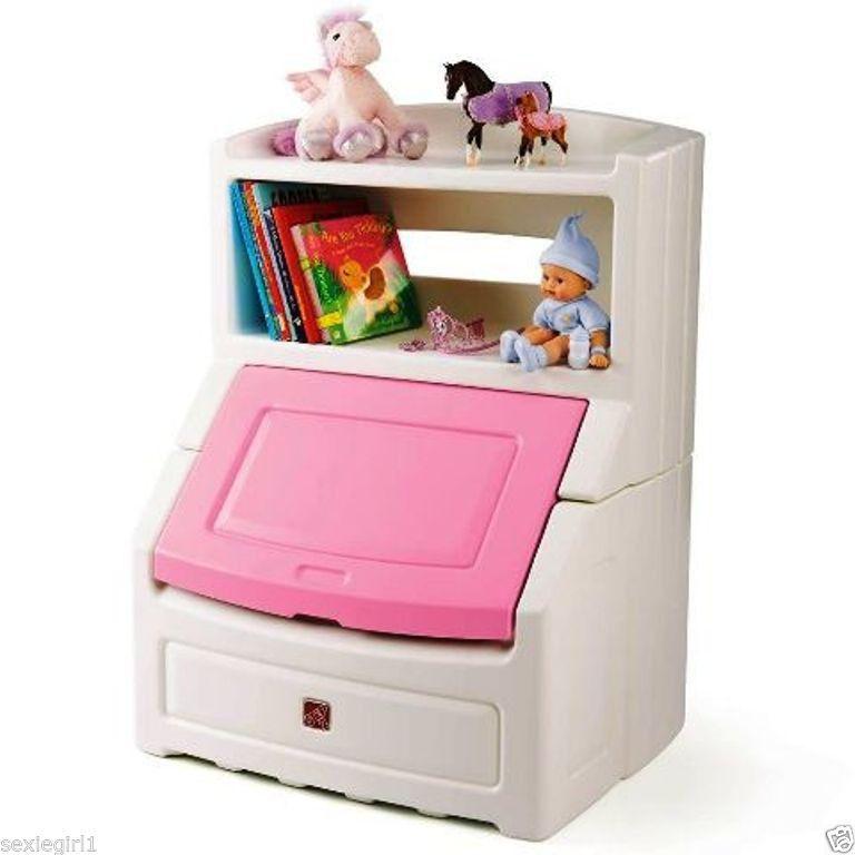 Kids Storage Cube Organizer Toy Box Kids Bedroom Furniture: New Pink Kids Bookcase Girls Bedroom Storage Chest Toybox