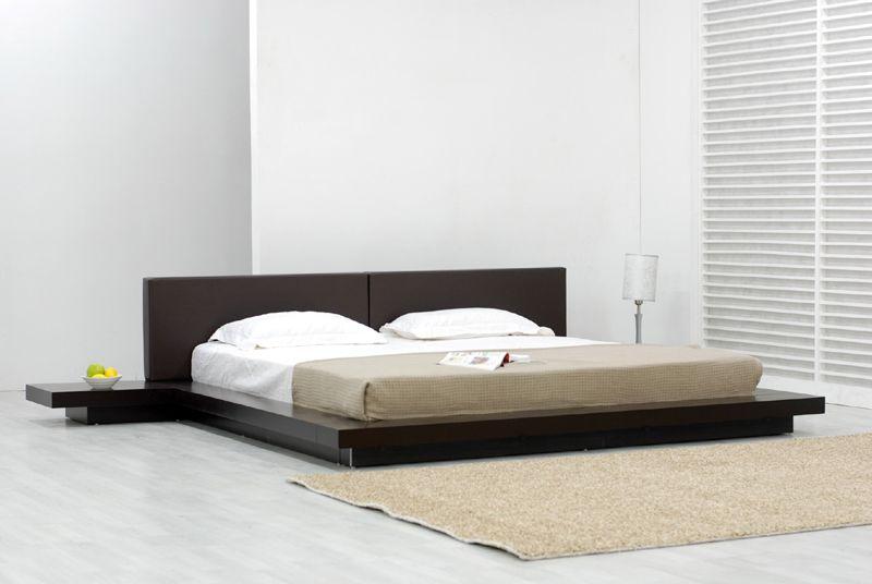 Best Modern Bedroom Design With Black Platform Bed Frame Brown 640 x 480
