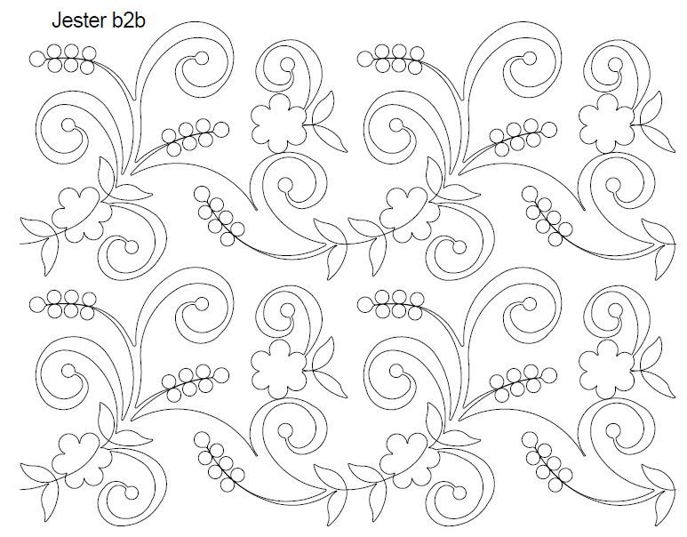 Jester $0.18 per sq inch | Nature/Insects/Animals Longarm Quilting ...