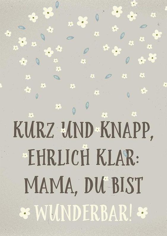 Liebe Grüße zum Muttertag, kurz und knapp. #muttertag #sprüche