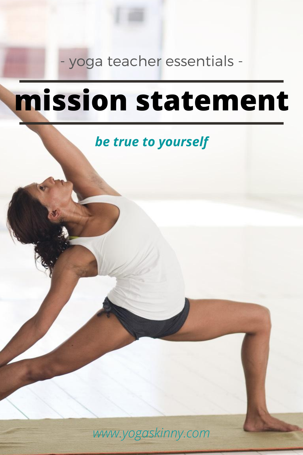 Yoga Teacher Mission Statement Instant Download Etsy Essential Teaching Personal