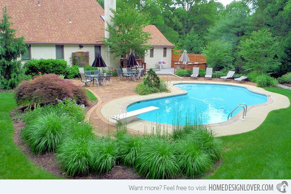 25 Ideas For Decorating Backyard Pools Pool Landscape Design