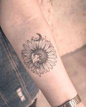 Diese magische Kombination Tattoos #Diese Kombination # Magic # Tatou  #flowertattoos - flower tattoos