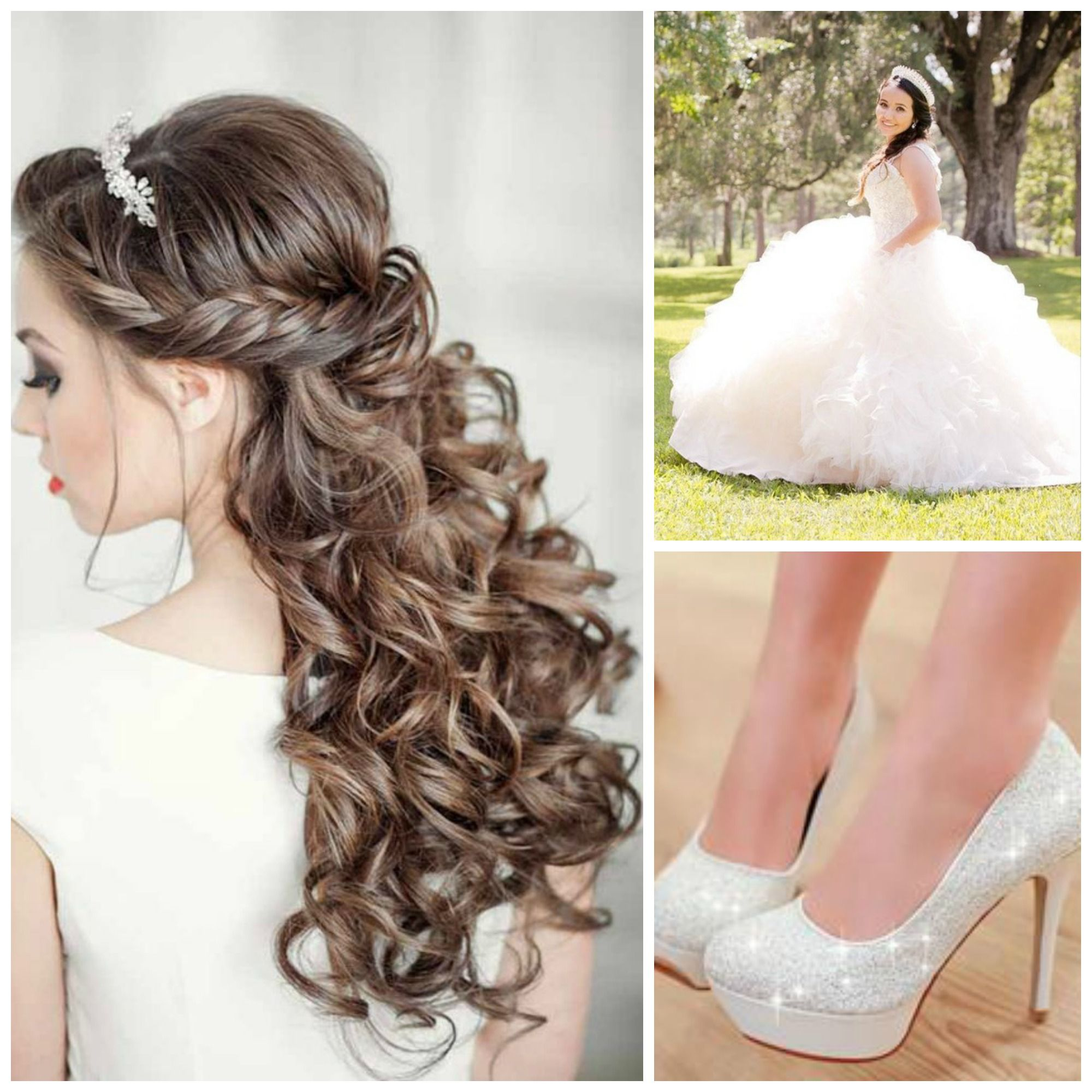 Down Half Tiaras Sweet Hairstyles 16 Half