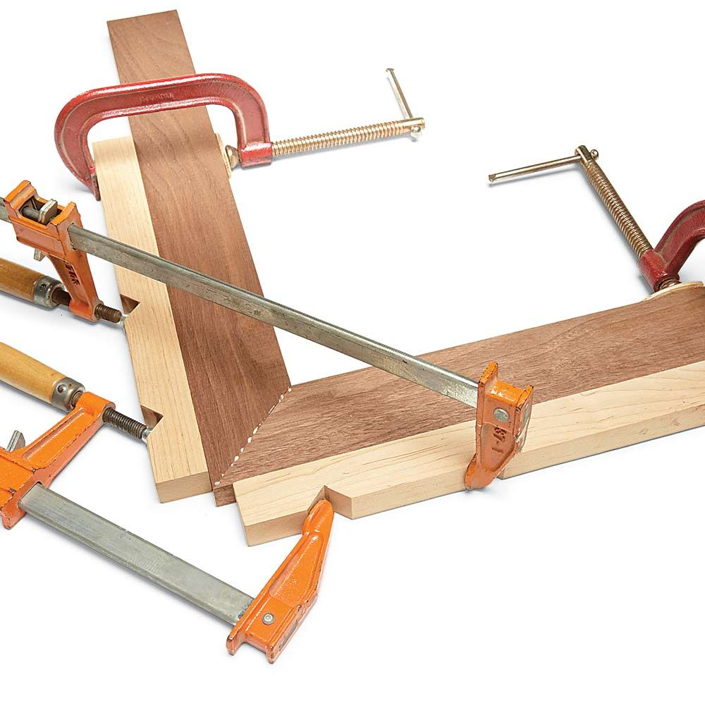 Perfect Miters Every Time | Clamp, Woodworking and Corner