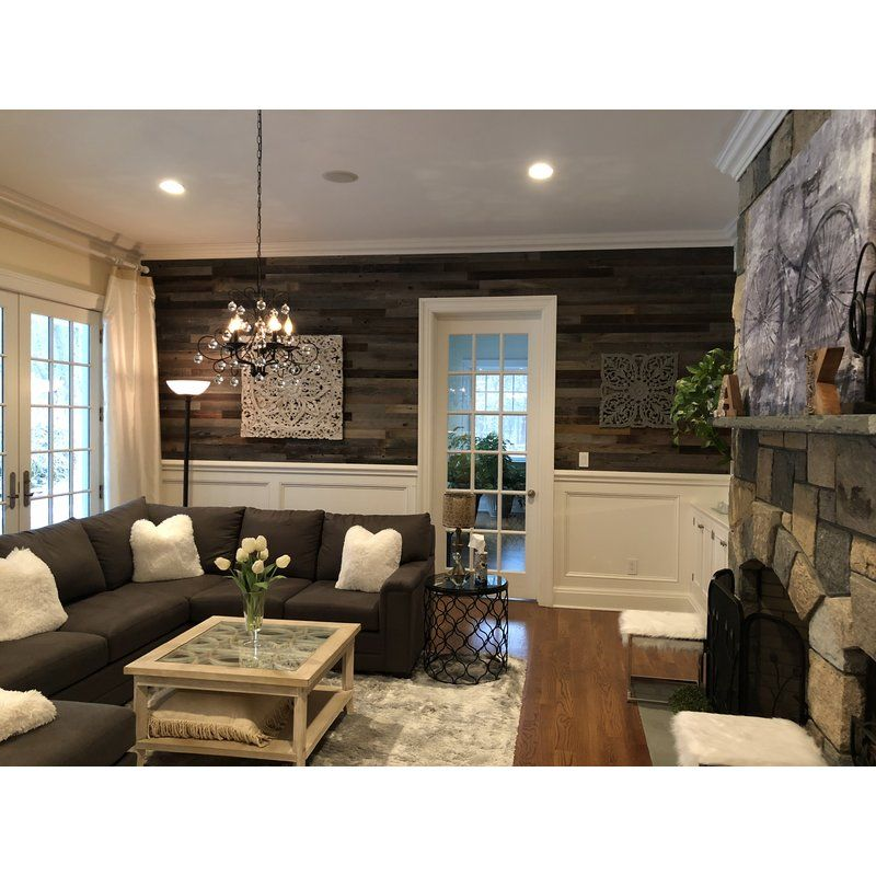 3 reclaimed peel and stick solid wood wall paneling in on wall panels id=31524