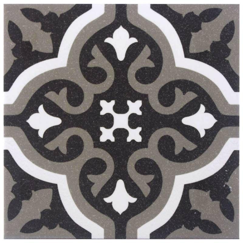 Carrelage Imitation Carreau Ciment Sol Et Mur Noir 20 X 20 Cm Fl0115001 Imitation Carreaux De Ciment Carreaux Ciment Et Carrelage Imitation Carreau Ciment