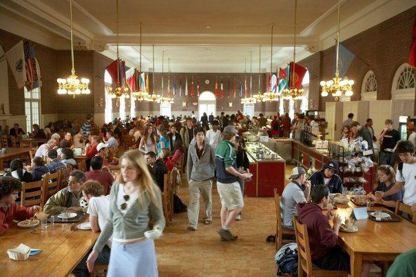 The Dining Room In Alumni Hall Student Life Bca Alumni