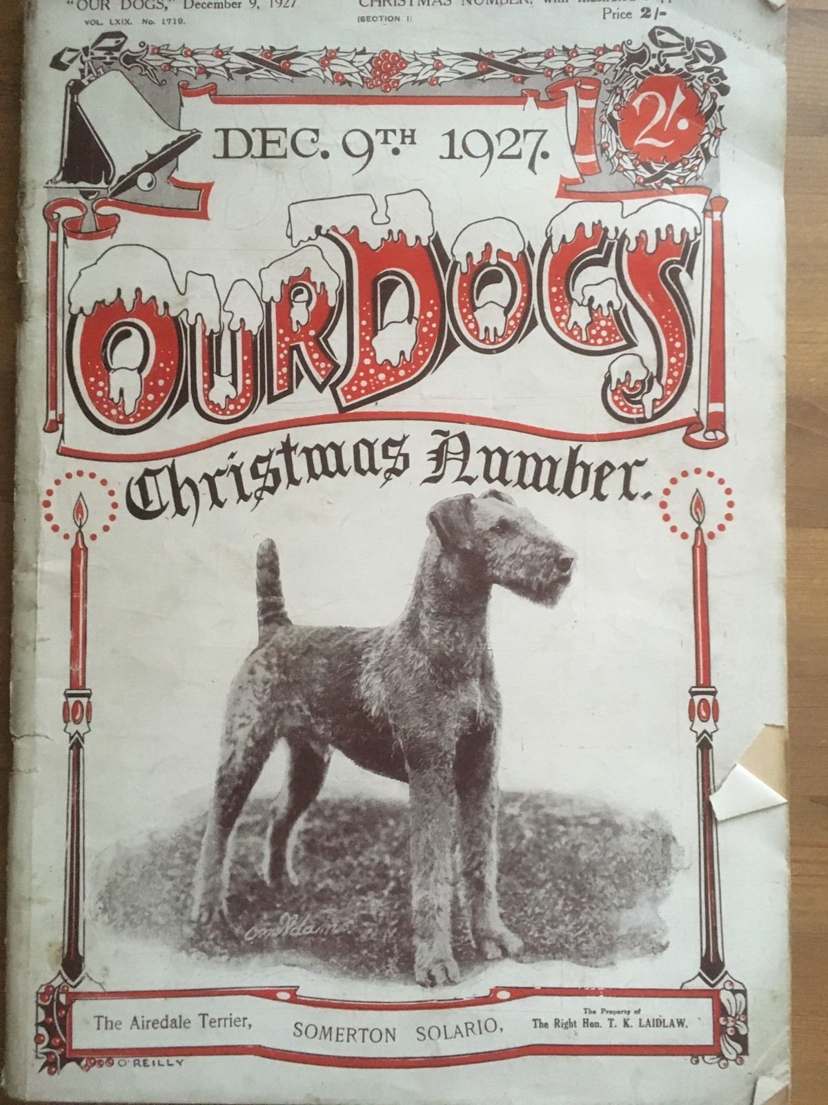 Antique Collectors Our Dogs Xmas Edition 1927 Pedigree Kennel Adverts Crufts Ebay Airedale Terrier Airedale Dogs Dog Magazine