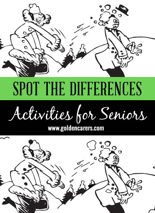 This is a picture of Agile Printable Spot the Difference for Elderly