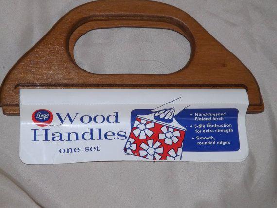 Vintage BOYE Wood Handles  One set  L 414 by MineAlways on Etsy, $10.00