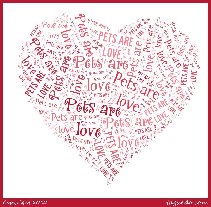 Pets Are Love Make Your Own Word Art Pets Diy
