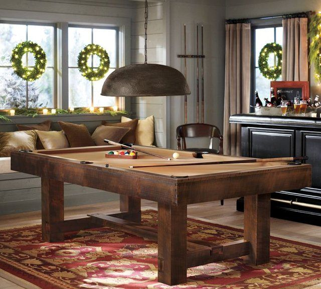 Fancy  Rustic Pool Table  Dining Rooms  Pinterest  Pool Table Delectable Dining Room Pool Table Design Decoration