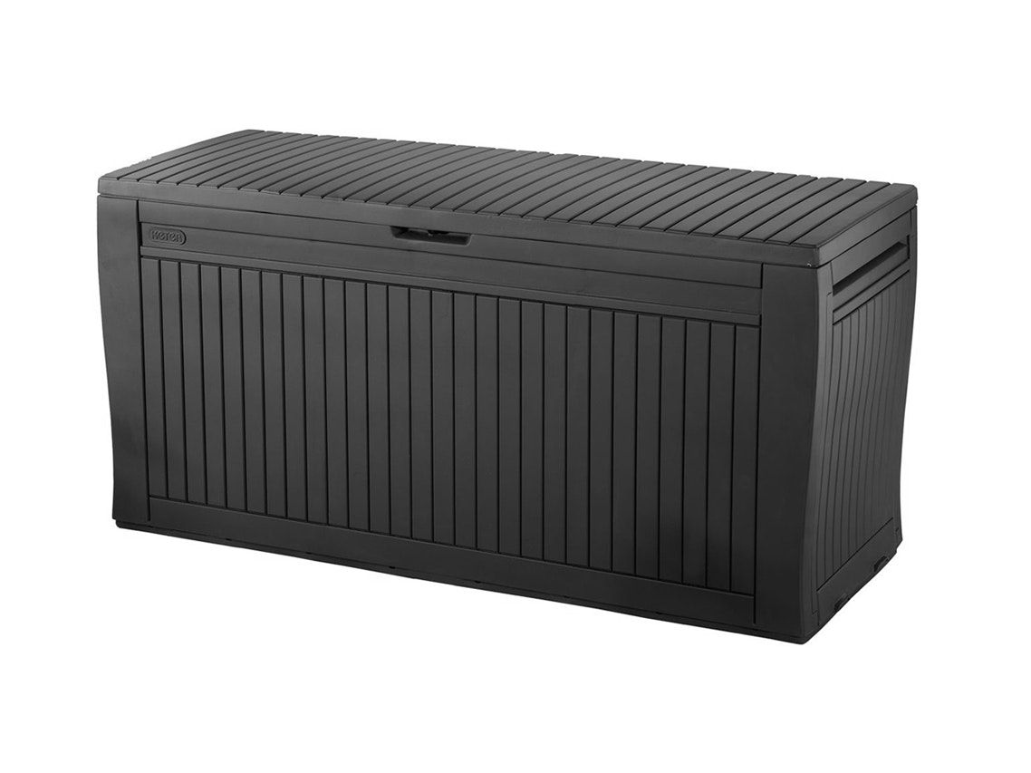 keter comfy storage box 270l landscape garden in 2019 outdoor rh pinterest com