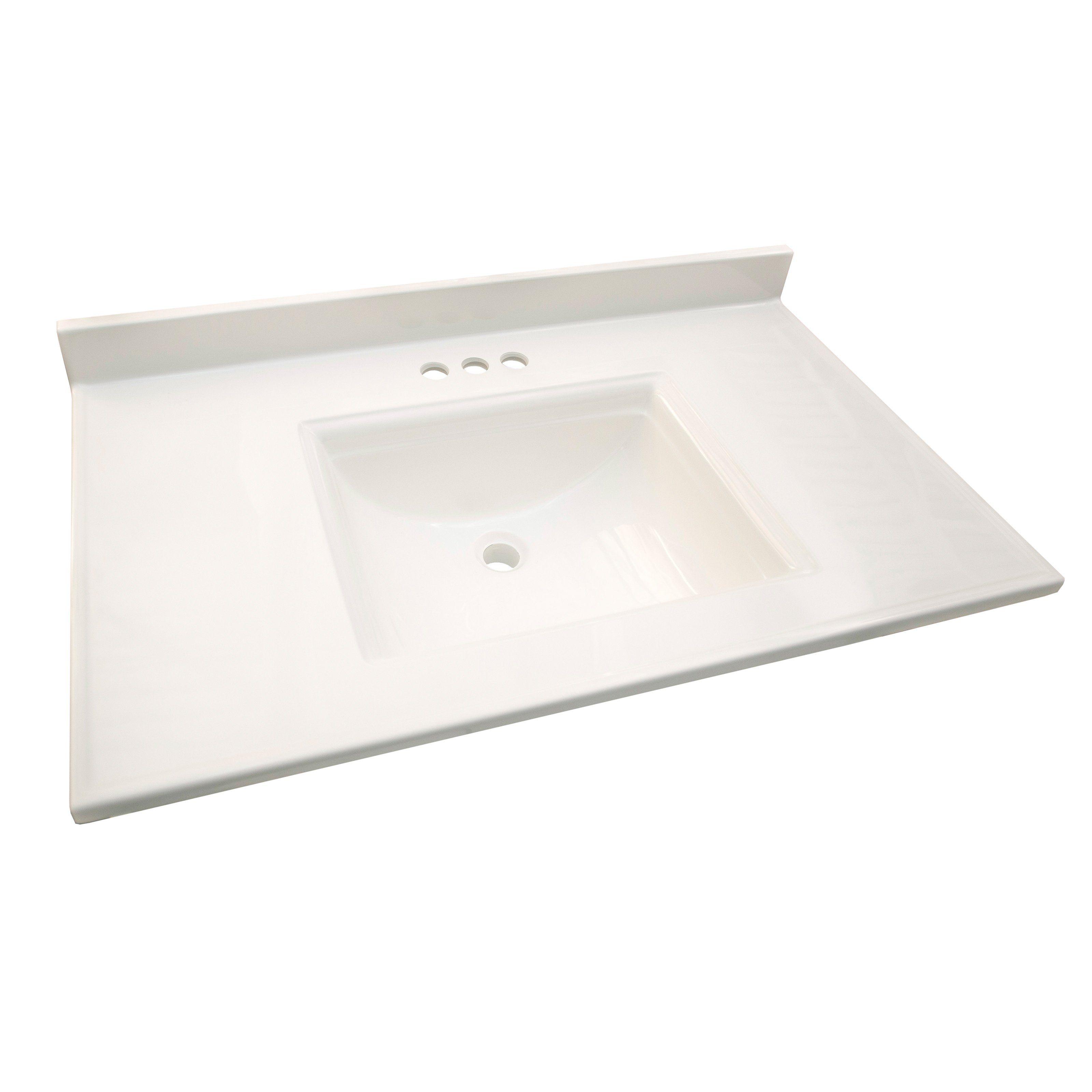 design house camilla 61 in single vanity top with backsplash from rh pinterest com