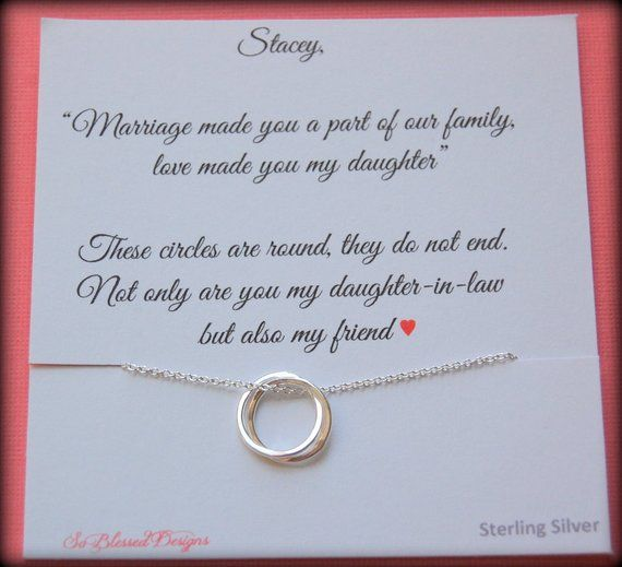 Gift For New Daughter In Law From Mother POEM Wedding Birthday