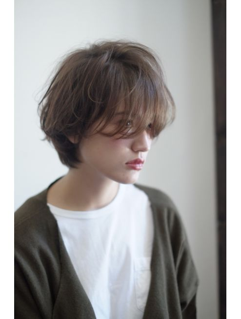 [people] 外国人風 透明感ショートボブ:L001968775|ピープル(people)のヘア
