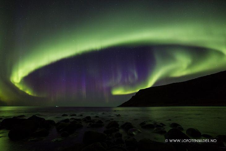 Aurora - photo taken by Eric Fokke on October 7, 2015 @ Lofoten, Norway