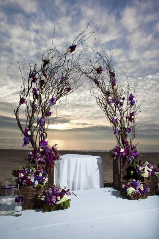 wedding decoration ideas south africa%0A decor natural branches with wood bases and purple accents orlando wedding  flowers