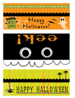 free printable bag toppers for halloween that fit on sandwich bags rh pinterest com