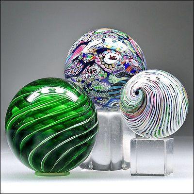 Trio Studio Art Glass Marbles Millefiori Picture Canes Filigrana