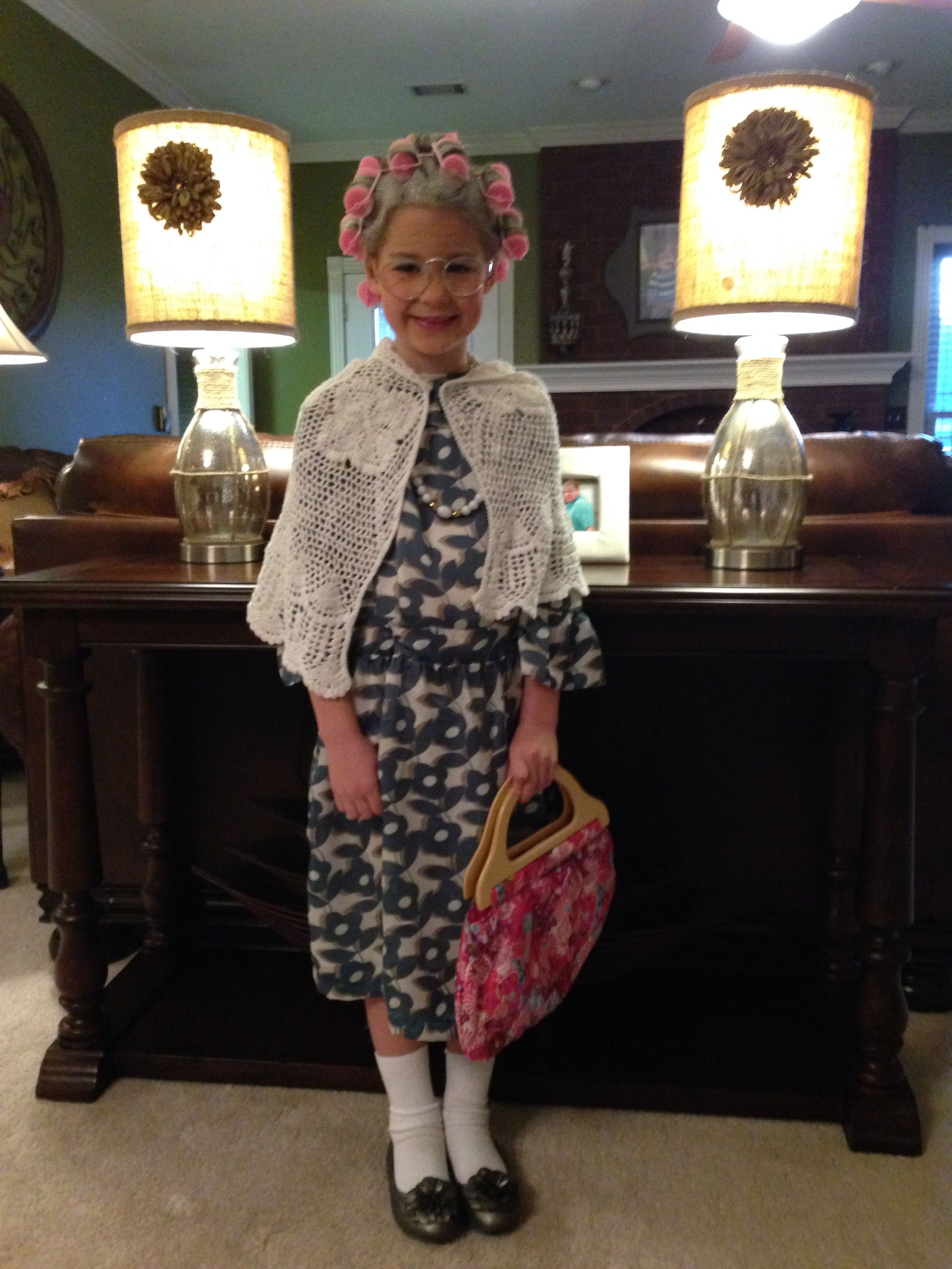 100th Day Of School Old Lady Costume 100 Year Old Lady School