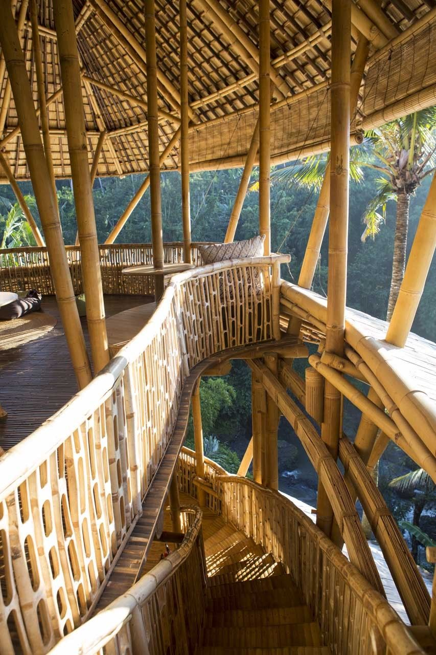 Set along the terraced slopes of the Ayung River in Sibang, Bali, Green Village is a master-planned community of eight dramatically unique homes.  Each villa is custom designed, rigorously engineered, and hand constructed to exemplify the intrinsic versatility of bamboo.  The overall...