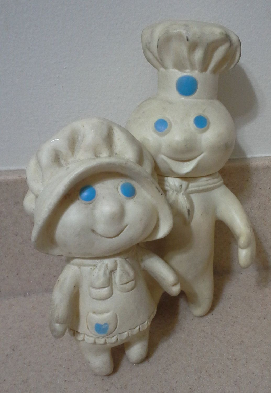 Pillsbury Doughboy And Poppy Fresh Advertisement Dolls