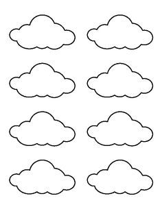 Small cloud pattern. Use the printable outline for crafts, creating ...