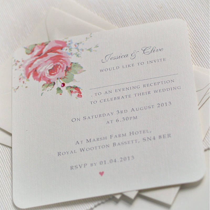sample wedding invitation letter for uk visa%0A English Rose Design Wedding Invitations