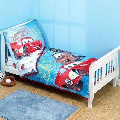 disney cars toddler bedding 4pc set reversible comforter bed set rh pinterest com