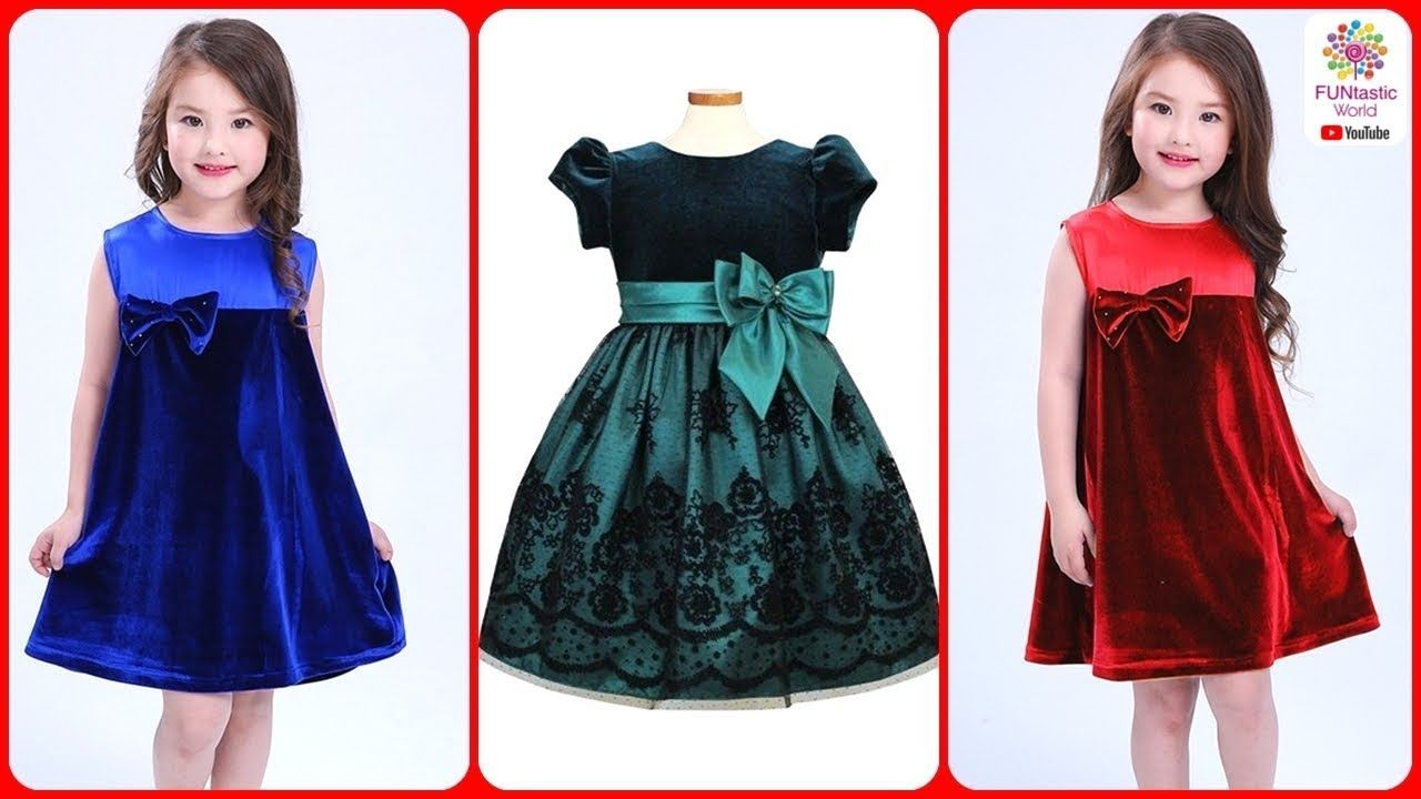 6c59dc44a Latest Stylish Velvet Dress Designs for Baby Girls