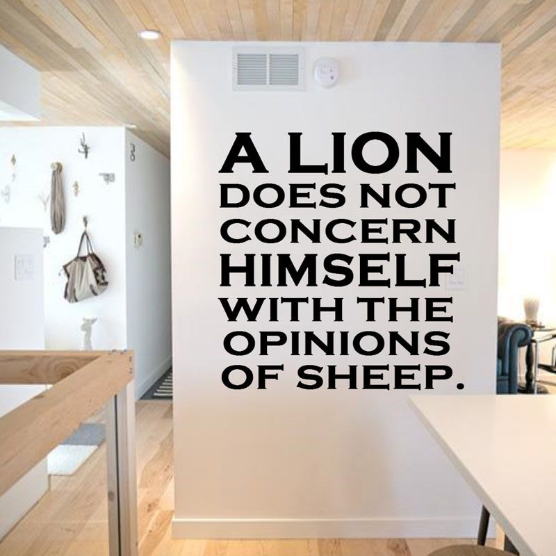 A Lion Does Not Concern Himself Quotes