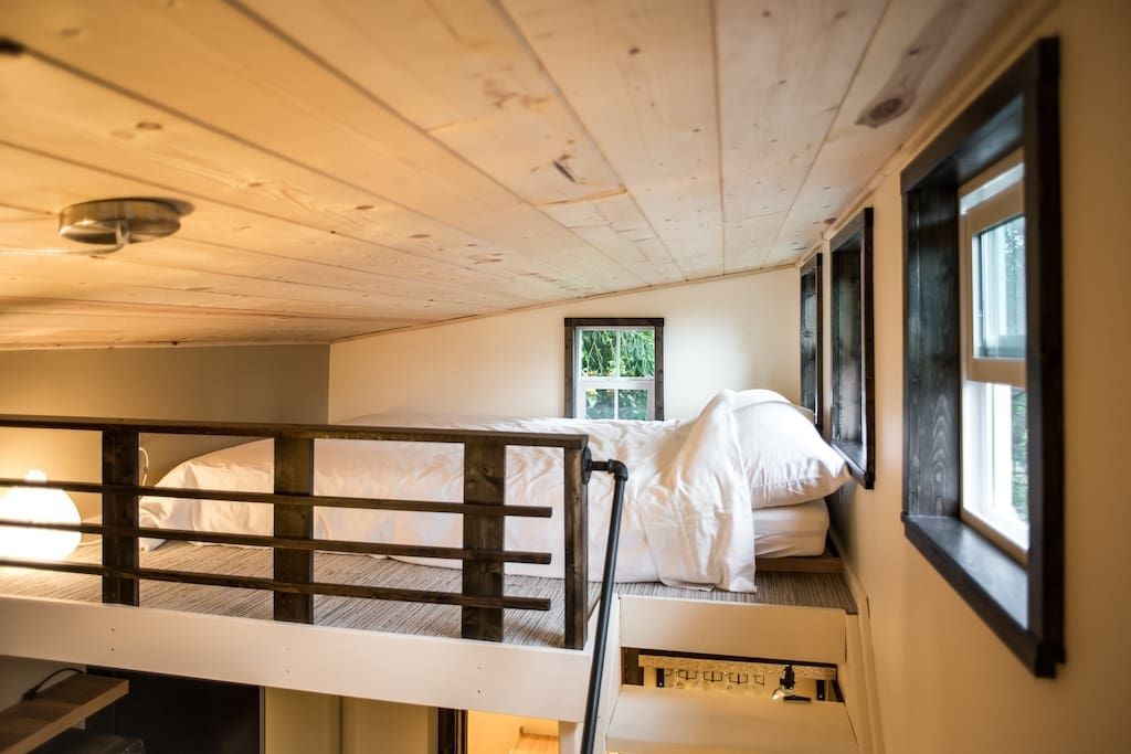 a beautiful tiny house available for rent in seattle via airbnb rh pinterest com