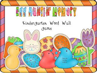 FREE Easter word wall memory game