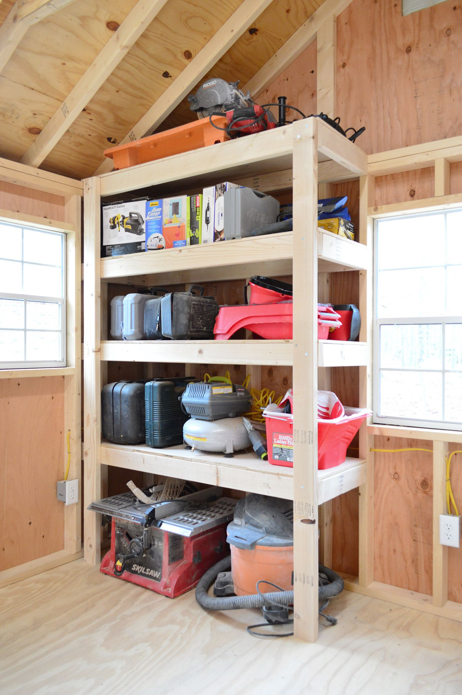 4 shed storage ideas for tons of added function organization diy rh pinterest nz