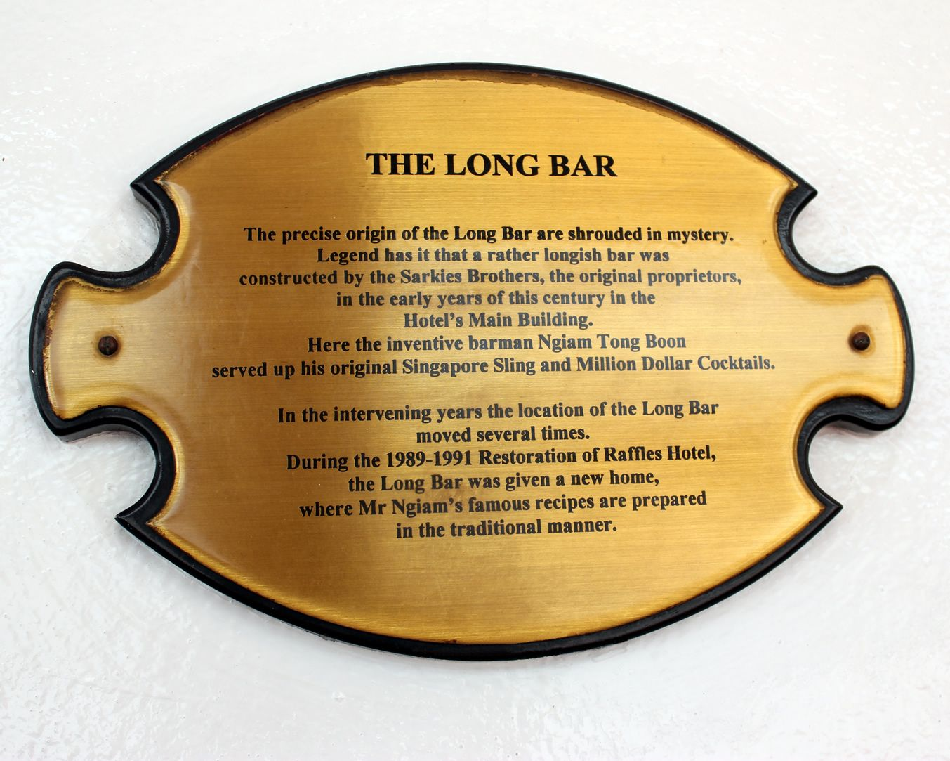 Raffles Hotel Singapore The History Of Long Bar The Birthplace Of Singapore Sling Singapore Sling Singapore Hotel