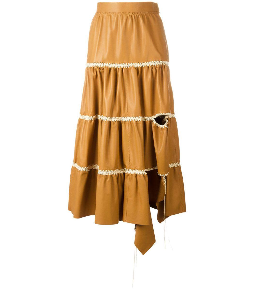6de8e808c36 LOEWE Yellow Orange Cut-Out Ruffled Skirt. #loewe #cloth # | Loewe ...