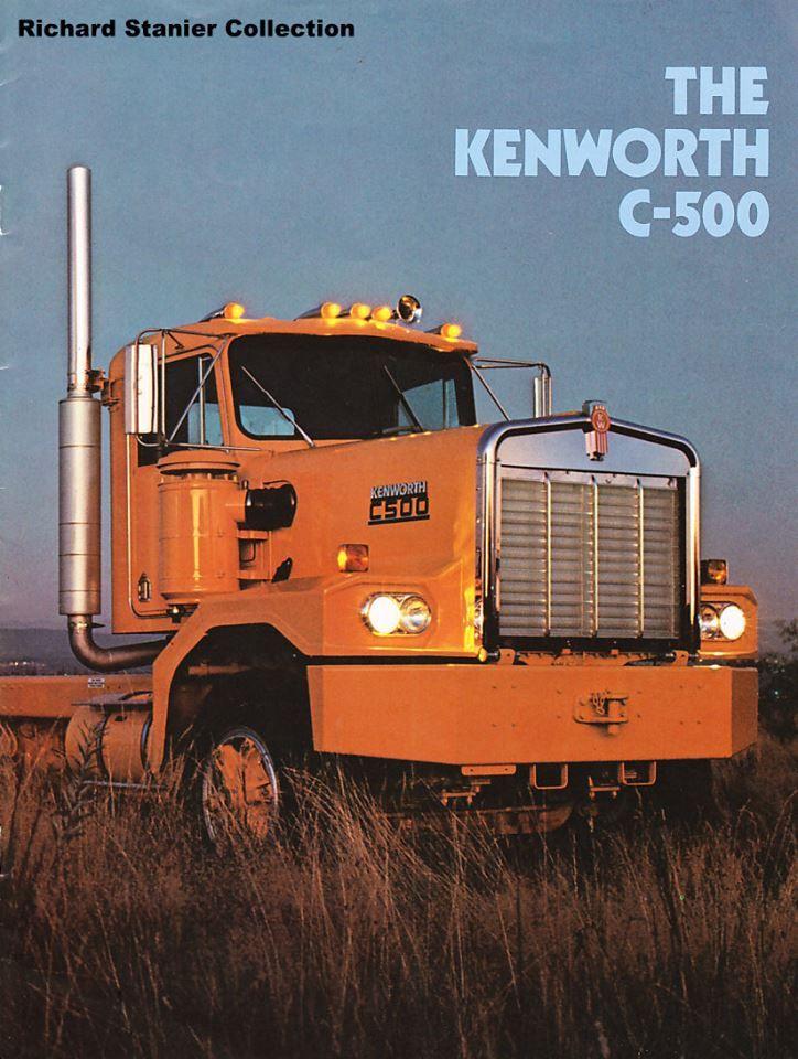 kenworth c 500 old kenworth pinterest trucks heavy truck and rh pinterest com